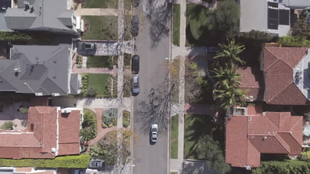 aerial straight down beverly hills - century city stock videos & royalty-free footage