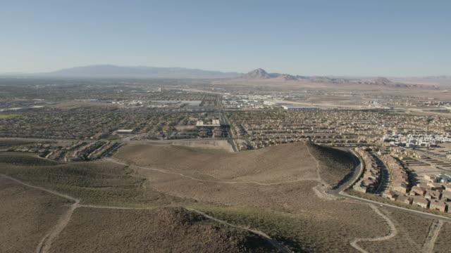 Aerial suburban view of Henderson City Las Vegas