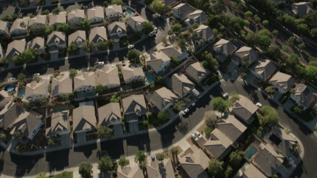 aerial suburban view of henderson city las vegas - nevada stock-videos und b-roll-filmmaterial