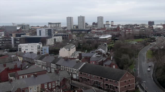 aerial sunderland, daytime - aircraft point of view stock videos & royalty-free footage