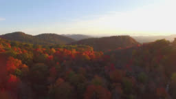 Aerial Sunrise Blue Ridge Mountains Autumn