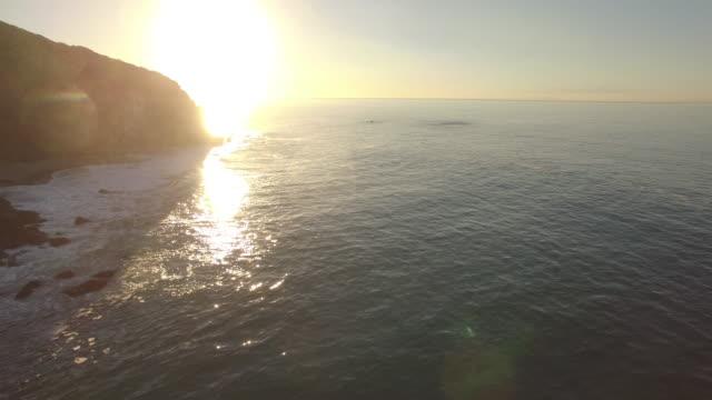 aerial sunrise in malibu - malibu stock videos & royalty-free footage