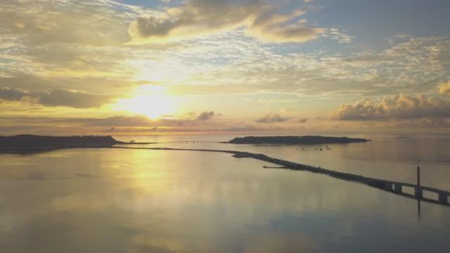 空中、日の出、海、道路 - horizon点の映像素材/bロール