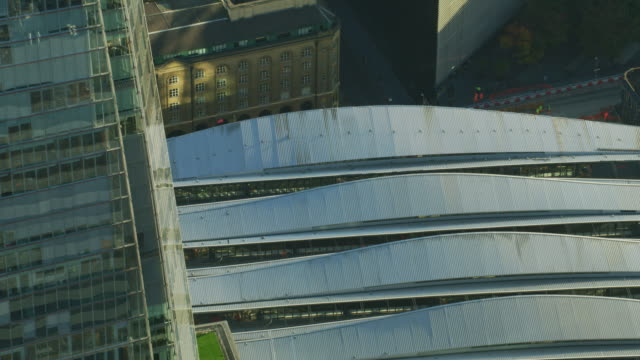 aerial sunrise view london bridge station the shard - twilight stock videos & royalty-free footage