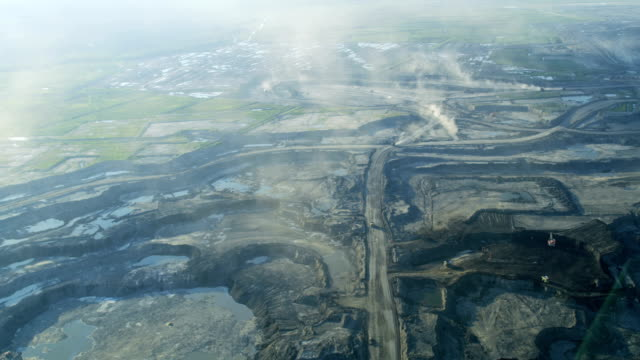 aerial surface mining athabasca tar sands fort mcmurray - alberta stock videos & royalty-free footage