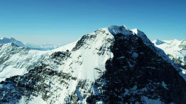 aerial switzerland grindelwald eiger summit mountain north face - rock face stock videos & royalty-free footage