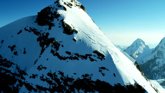 Aerial Switzerland Grindelwald Eiger summit mountain North Face