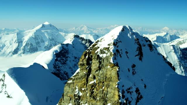 Aerial Switzerland Jungfrau summit mountain Europe Alps travel