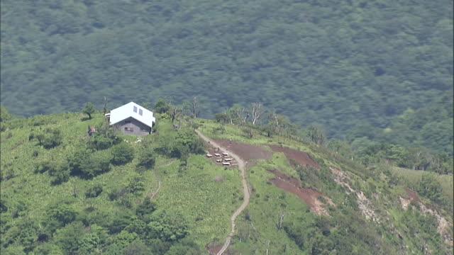 Aerial Tanzawa Mountains