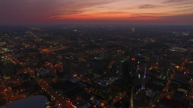 aerial tennessee nashville - twilight stock videos & royalty-free footage