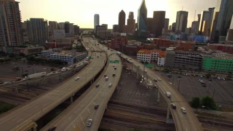 aerial texas dallas - highway stock videos & royalty-free footage