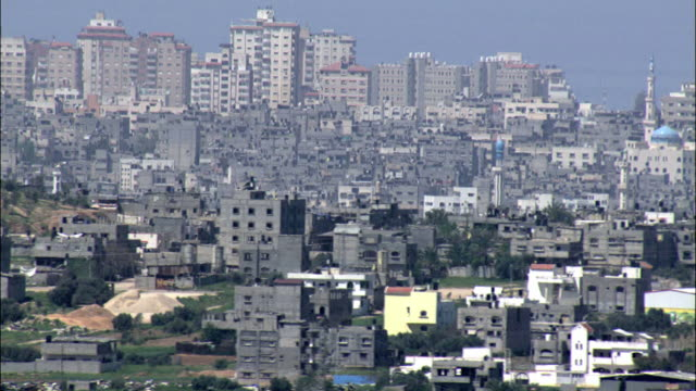 aerial the gaza strip, gaza, israel - gaza strip stock videos & royalty-free footage