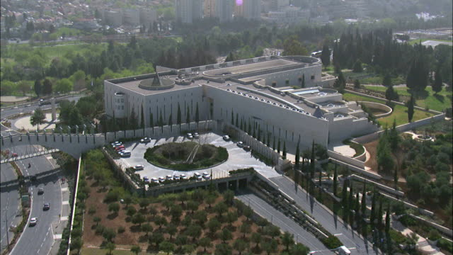 Aerial the Israel Supreme Court in the new city of Jerusalem, Israel