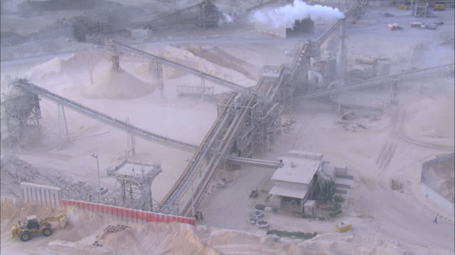 aerial the negev industries: quarry in ramon crater, negev, israel - quarry stock videos & royalty-free footage