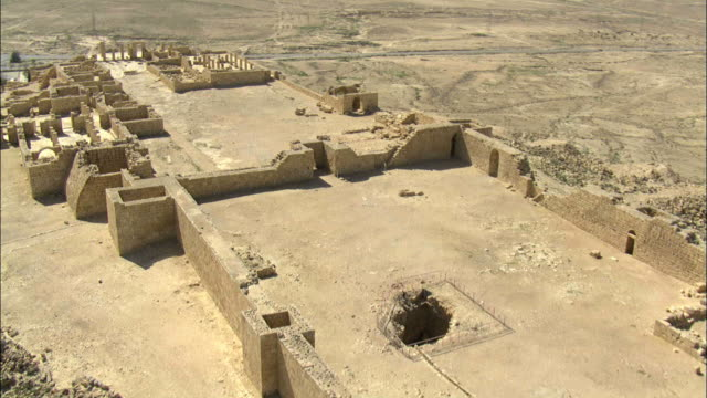 aerial the ruins of avdat, negev, israel - biblical event stock videos & royalty-free footage