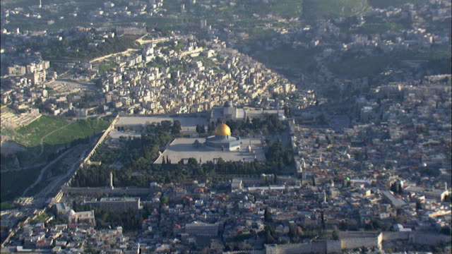 aerial the temple mount in jerusalem, israel - wailing wall stock videos & royalty-free footage