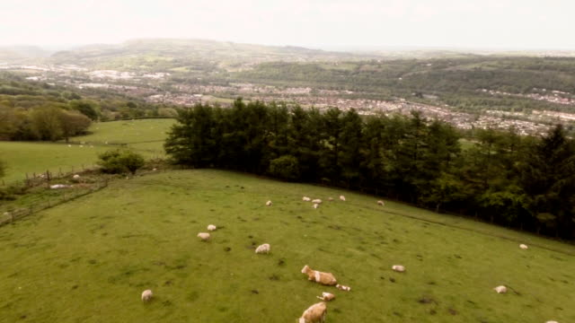 Aerial The Valleys, Wales
