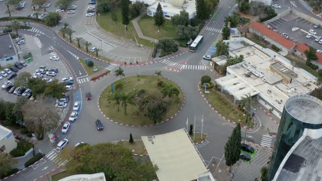 aerial tilt down shot of shamir medical center in city - tel aviv, israel - aerial stock videos & royalty-free footage