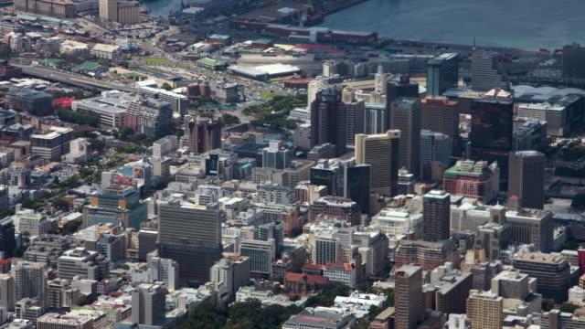 vidéos et rushes de aerial timelapse cape town - république d'afrique du sud