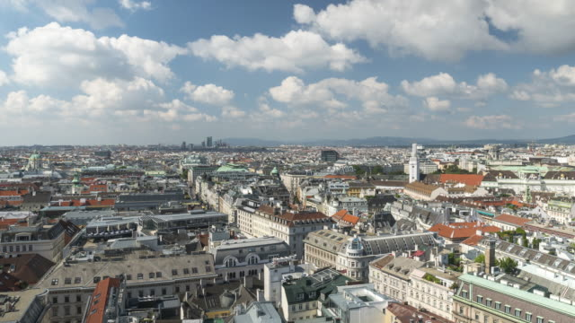 aerial tl view of  vienna city, austria - traditionally austrian stock videos & royalty-free footage