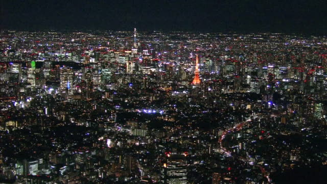 Aerial Tokyo Night View