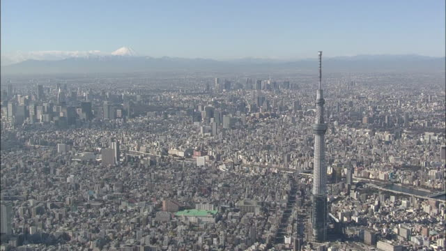 aerial tokyo skytree - distant stock videos & royalty-free footage