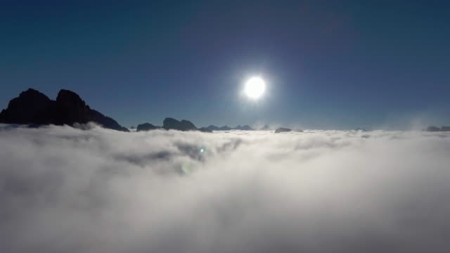 Aerial: Top of the clouds