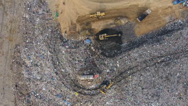 ゴミの空中上の写真 - 埋め立てごみ処理地点の映像素材/bロール