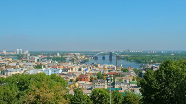 キエフ市街地の航空トップビュー - キエフ市点の映像素材/bロール