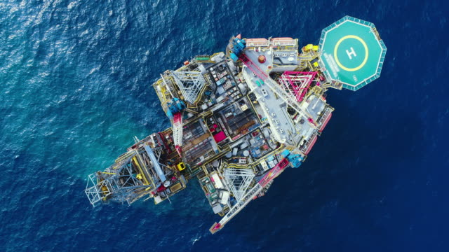 aerial top view ship on the sea for transportation fuel and power concept - oil stock videos & royalty-free footage