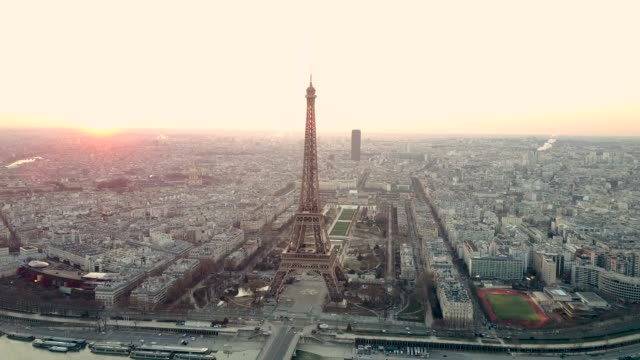 Aerial Tour Eiffel Paris