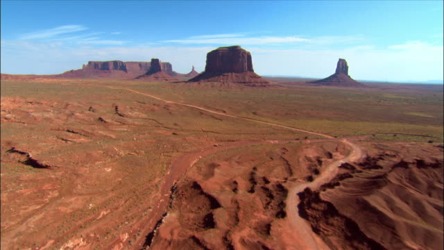 Aerial towards 'Merrick Butte' / Monument Valley