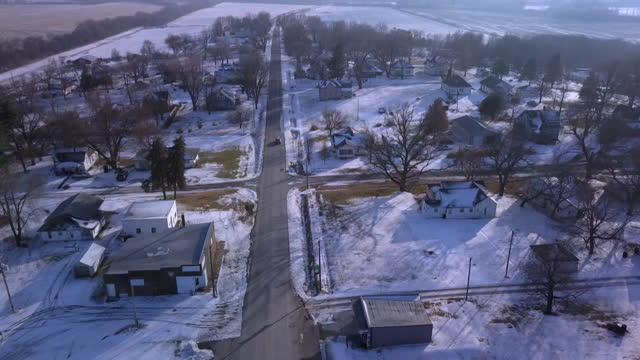 aerial town of skidmore in missouri where bobbie jo stinnett was murdered by lisa montgomery in 2004 - missouri stock videos & royalty-free footage