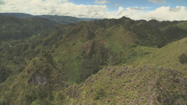 """vídeos y material grabado en eventos de stock de aerial track over forested ridges. - """"bbc natural history"""""""