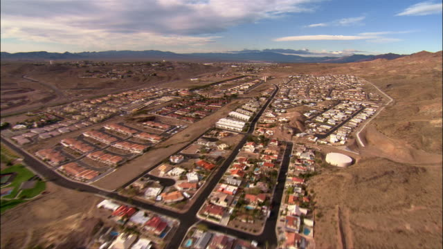 Aerial tract homes and desert/ Boulder City, Nevada