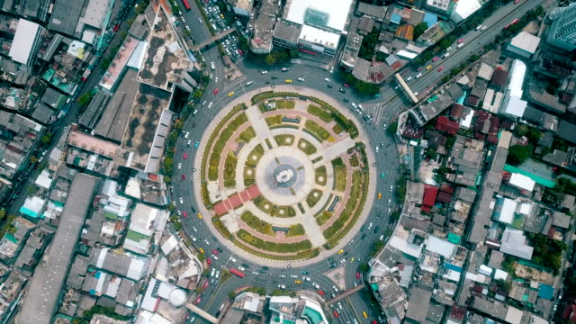 aerial traffic circle - roundabout stock videos & royalty-free footage