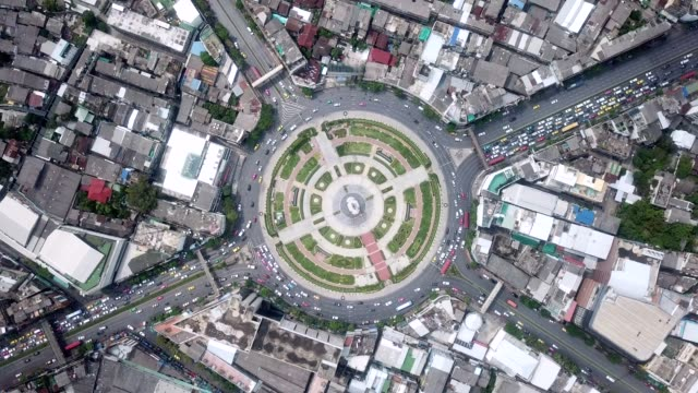aerial traffic circle - overhead view stock videos & royalty-free footage