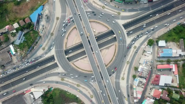 aerial :traffic circle - roundabout stock videos and b-roll footage