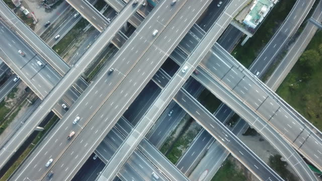 aerial traffic highway - motorway stock videos & royalty-free footage