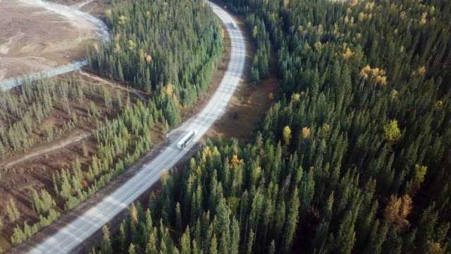 aerial transportation on the road - canada stock videos & royalty-free footage