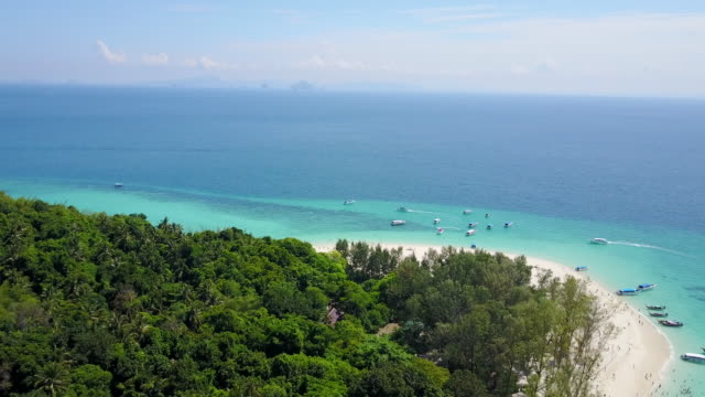 aerial, tropical island in thailand - krabi province stock videos & royalty-free footage