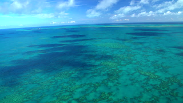 Aerial tropical view Great Barrier Reef South Pacific