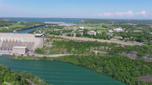 b2-5 aerial upper whirlpool trails and niagara river view, niagara falls, ontario, canada - niagara falls city new york state stock videos & royalty-free footage