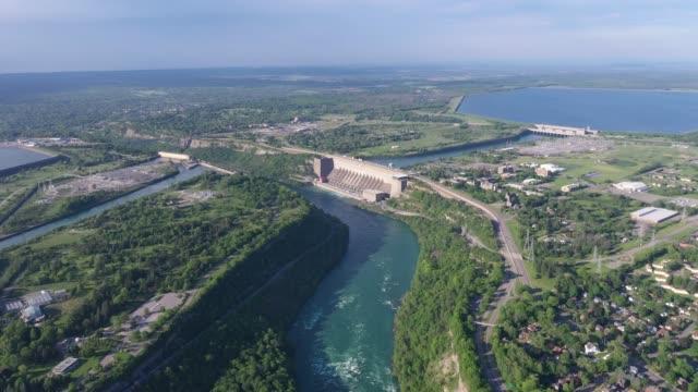 h1-9 aerial upper whirlpool trails and niagara river view, niagara falls, ontario, canada - river niagara stock videos & royalty-free footage