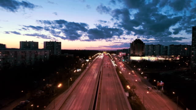 aerial urban time lapse - fast motion time lapse stock videos & royalty-free footage