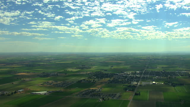 aerial usa idaho farm irrigation food land agriculture water - aerial transport building stock videos & royalty-free footage