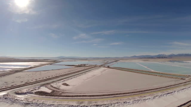 aerial utah salt flats - salt shaker stock videos and b-roll footage