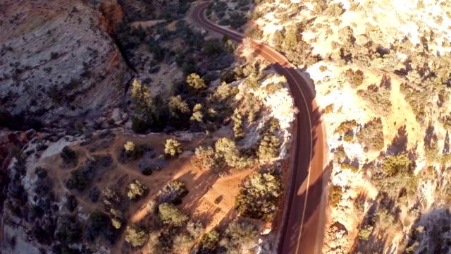 空から見たユタ州ザイオン国立公園 - ザイオン国立公園点の映像素材/bロール