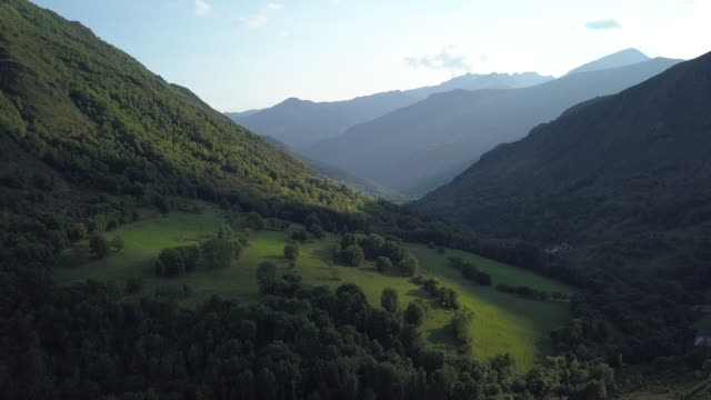 aerial, vast mountains in spain countryside - spain stock videos & royalty-free footage
