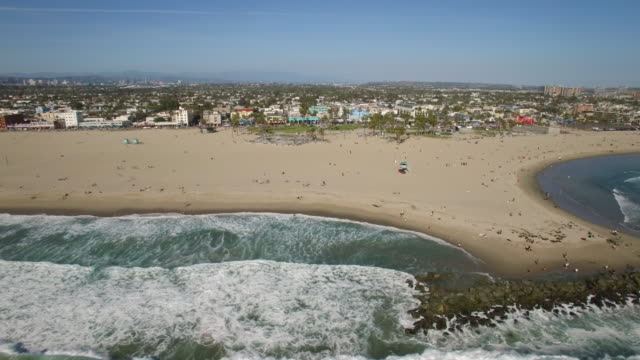 aerial venice beach, los angeles - venice california stock videos & royalty-free footage